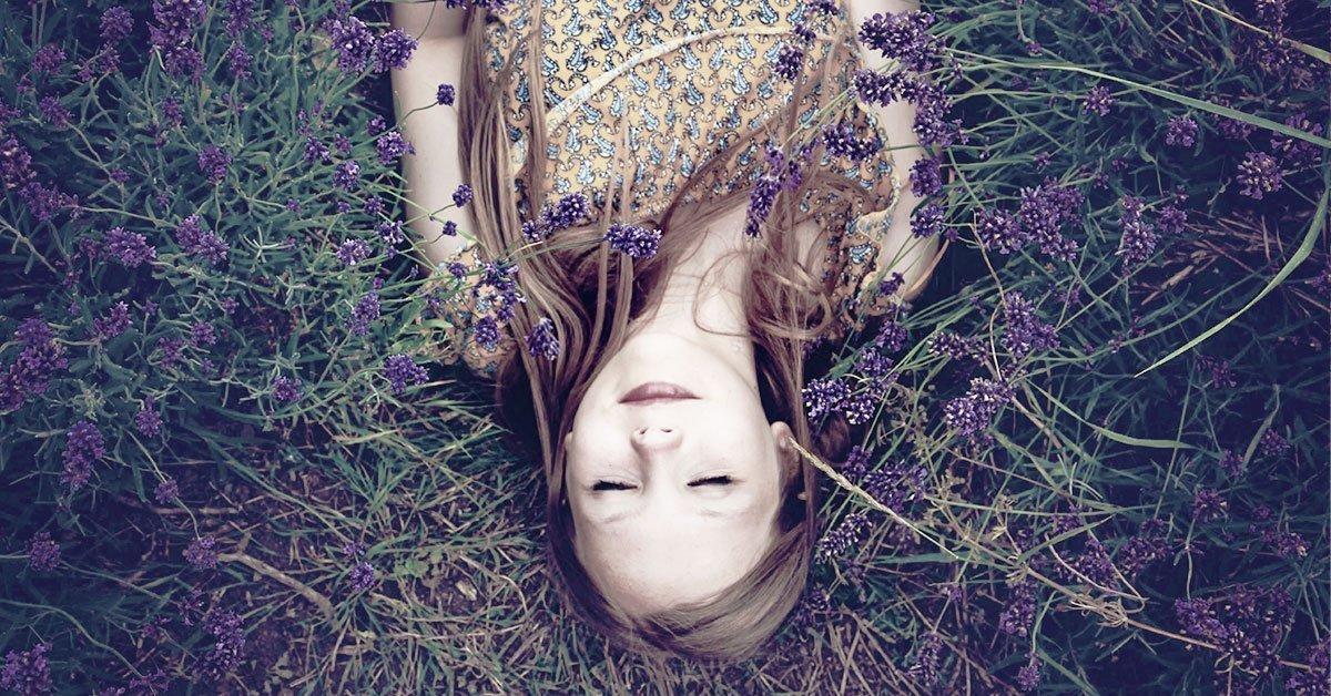 girl-laying-in-lavender bush