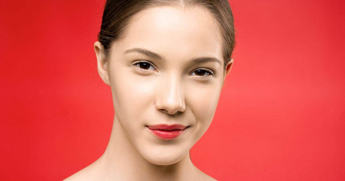 closeup beautiful young girl