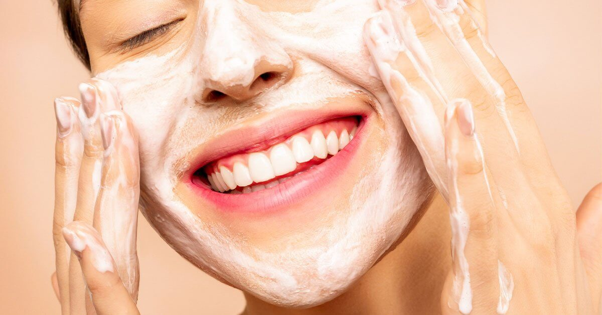 natural skin care products-girl-washing-face