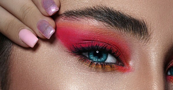 Best Eye Makeup for Sensitive Eyes - closeup woman eye makeup