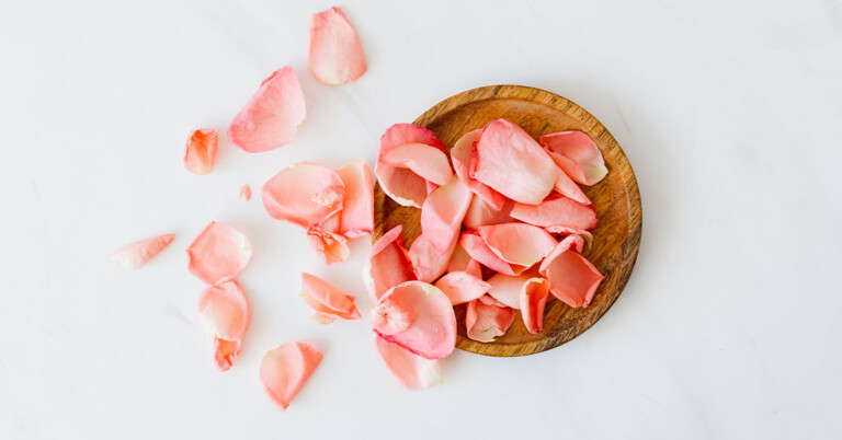 bowl of rose petals - DIY Facial at Home Using Natural Ingredients