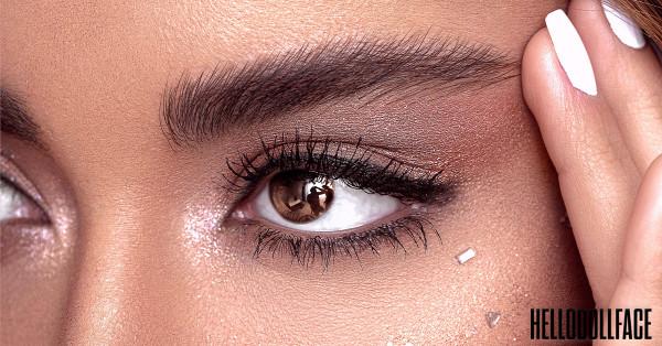Best Organic Mascara For Sensitive Eyes- Close Up Brown Eyed Woman With Eye Makeup