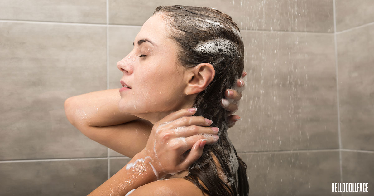 best ketoconazole shampoo for hair loss woman shampooing hair in shower